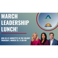 Leadership Lunch March at Andretti's Karting