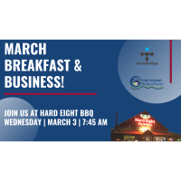 Business & Breakfast for March hosted by Hard Eight BBQ