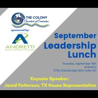 Leadership Lunch September at Andretti's