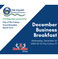 Business & Breakfast for December hosted by Hard Eight BBQ