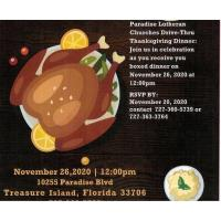 Paradise Lutheran FREE Drive Thru Thanksgiving Dinner