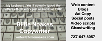 Billie Noakes, Copywriter -