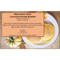Community Pancake Breakfast at Blaine Senior Center