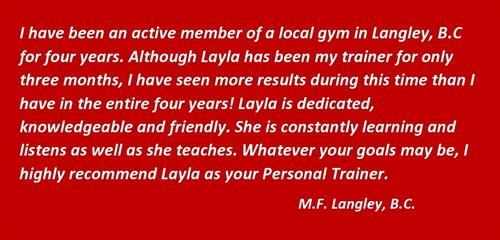 Client Testimonial Langley BC