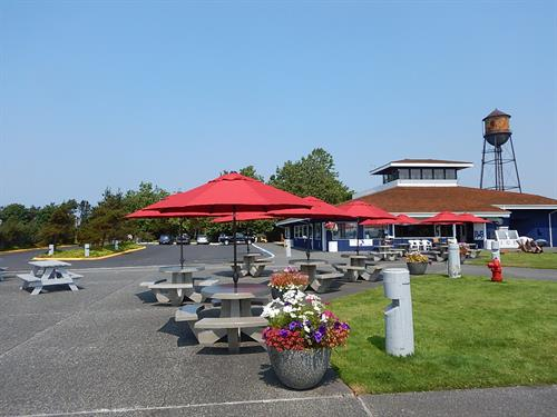 Enjoy lunch on the patio