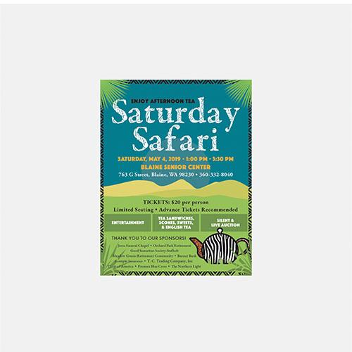 ADVERTISING: Blaine Senior Center's Saturday Safari
