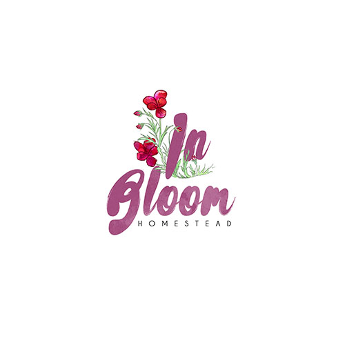 BRANDING: In Bloom Homestead Logo