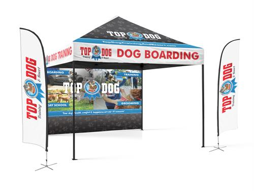 Top Dog Training & Resort event tent