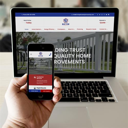Blue Star Construction website design