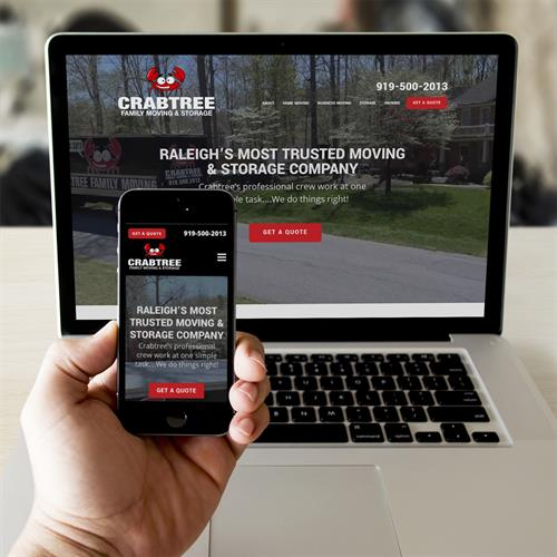 Crabtree Family Moving website design