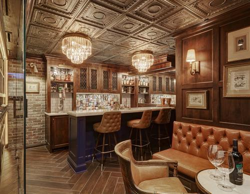 basement digout design build remodel bar Kenilworth