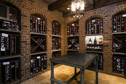 wine cellar basement design build remodel Kenilworth