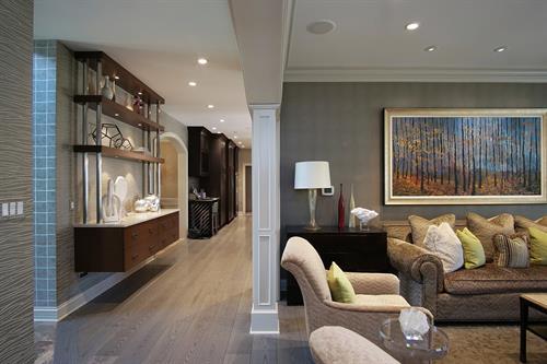 living room addition remodel design Highlan Park