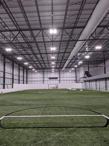 Indoor turf field at Chaparral Ice in Cedar Park