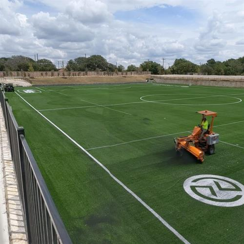 Outdoor turf field at Chaparral Ice in Cedar Park