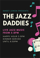 Music at Sweet Lemon - Jazz Daddies