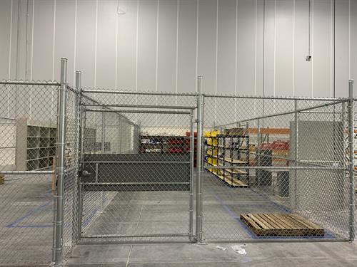 Interior Commercial Chain Link Gate