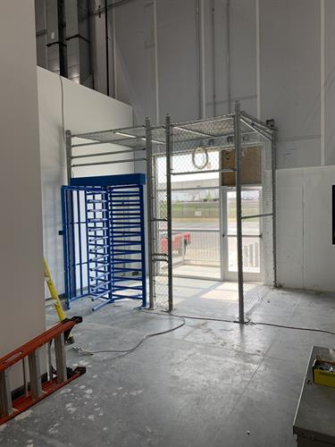 Interior Commercial Chain Link Security Enterance