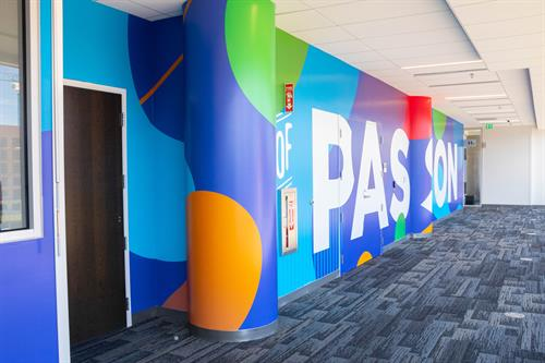 Wall Mural example from SpeedPro Orlando