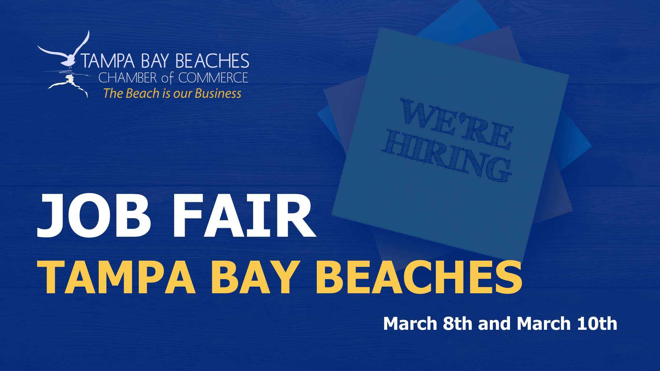Five Job Fairs on the Tampa Bay Beaches