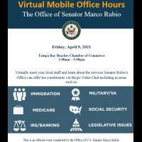 Senator Marco Rubio Virtual Mobile Office Hours
