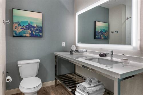 Bathroom with Bluetooth Mirror
