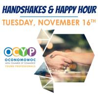 Young Professionals Handshakes and Happy Hour