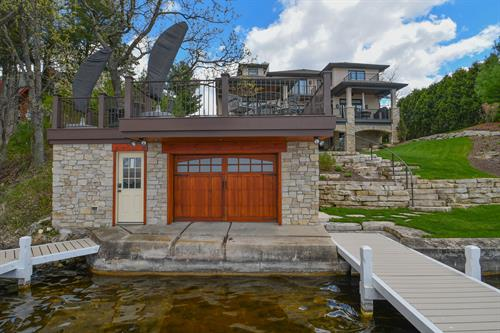 Lake House - Lake Side - Contemporary and Prairie style architecture with Mediterranean influences.