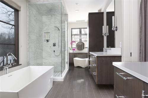 North Lake House - Bathroom - Contemporary style with modern and traditional details