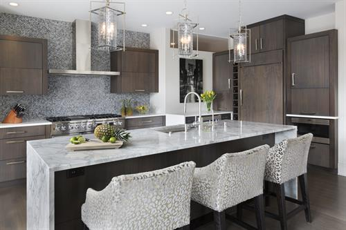 North Lake House - Kitchen - Contemporary style with modern and traditional details