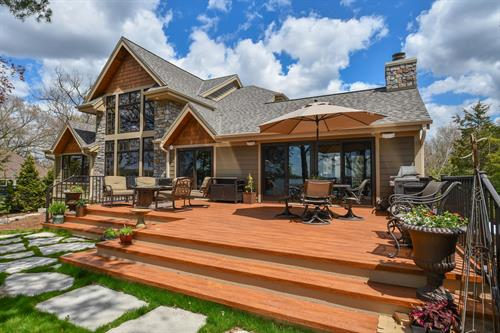 Road M House - Contemporary mix of Craftsman and Rustic styles.