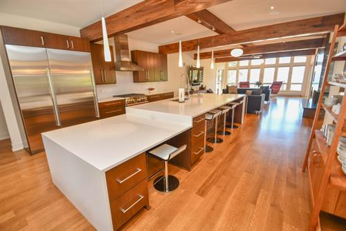 Silver Lake House - Modern and Contemporary Galley-style Kitchen; is also ADA compliant.