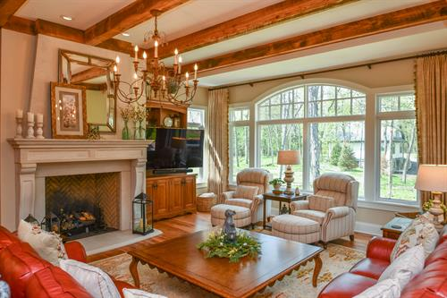 Treasure Island House - Interior - Cottage style architecture with French-country style influences.