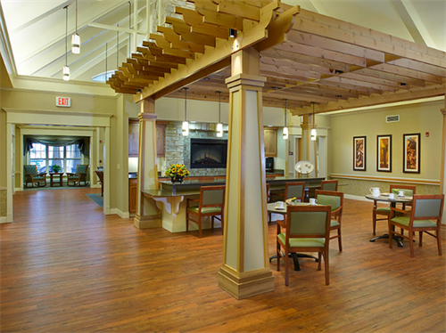 Lake Country Health Services Bistro- Residents can enjoy socialization and refreshments