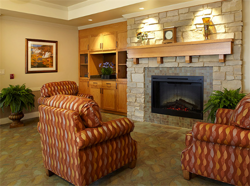 Lake Country Landing Fire Place Area