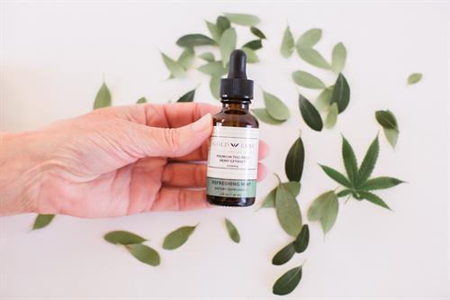Refreshing Mint Tincture, Premium THC FREE Hemp Extract 1000 mg
