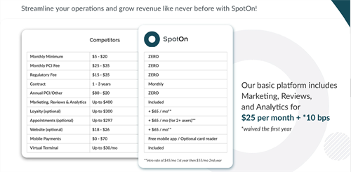 Why SpotOn for your Processing