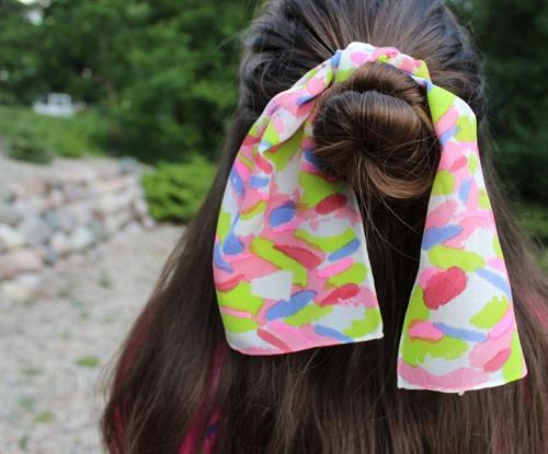 Hand Painted Silk Hair Ties