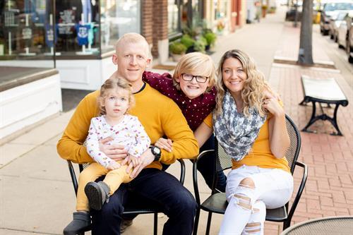 My family in downtown Oconomowoc