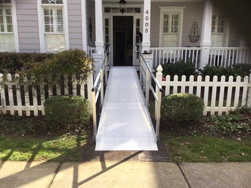 Modular ramps are very versatile and can be used for many any set-ups, rises, or locations.