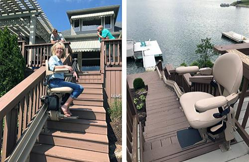 Outdoor stairlift straight or custom curved, we can help you with any set-up.