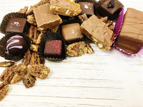 All Natural premium chocolates made with Belgian Chocolate
