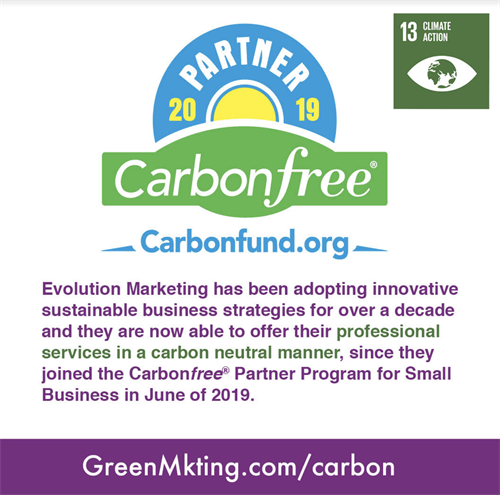 Evolution Marketing offers our services in a carbon neutral manner!