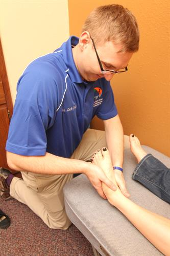 Adjustments for foot or ankle pain