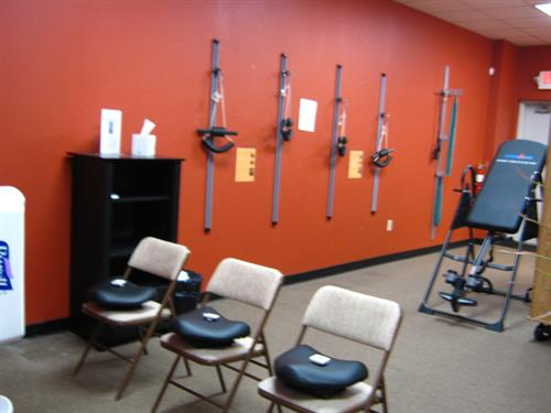 Exercise and therapy rooms