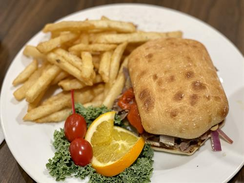 Steak Sandwich and Crispy House Fries