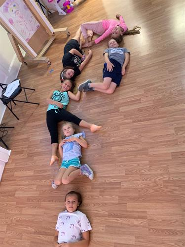 Make letter with our bodies! Team Work Acting Exercise!