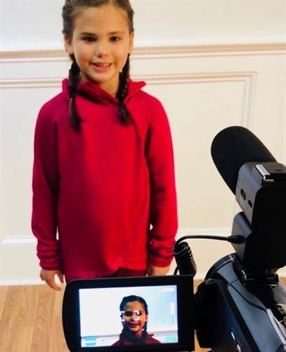 Emma's first time on Camera!!  A Star is Born