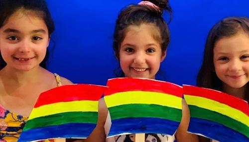 """Getting to perform in Miss Laurie's original play """"Friendship Rainbow"""""""
