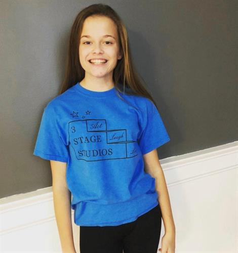Teen Actor Danielle modeling a 3 Stage Studios Tee